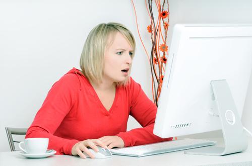 Woman needs a wordpress update and backup service